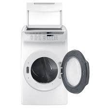 Samsung Samsung 7.5 FlexDry Steam Gas Dryer White