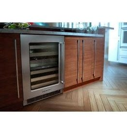"KitchenAid Kitchenaid 24"" 46 Bottle Built-In Wine Cooler Stainless"