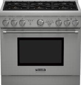 "Thermador Thermador 36"" Convection Dual Fuel Range Stainless"