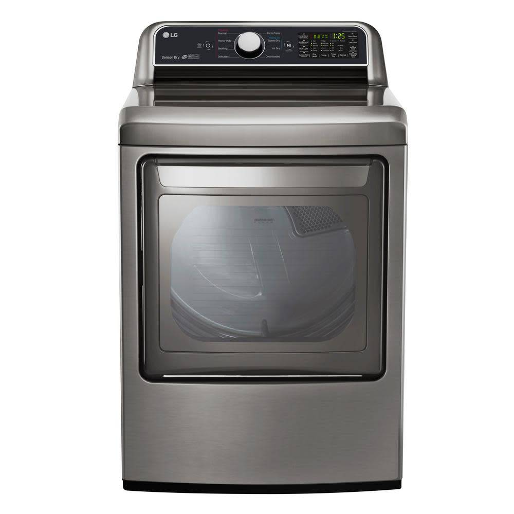 LG LG 7.3 Steam Gas Dryer Graphite