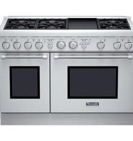 """Thermador Thermador 48"""" Slide-In Convection Gas Range Stainless"""
