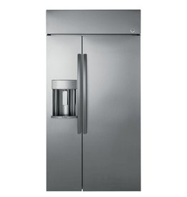"""GE GE Profile 42"""" 24.3 Built-In SxS Refrigerator Stainless"""