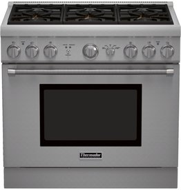"""Thermador Thermador 36"""" Slide-In Convection Gas Range Stainless"""
