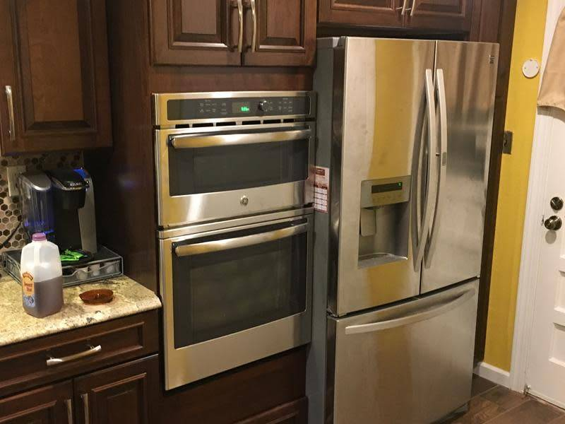 """GE GE 27"""" Microwave Convection Wall Oven Stainless"""