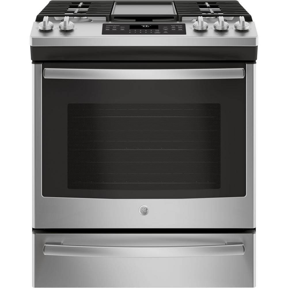 GE GE Slide-In Convection Gas Range Stainless