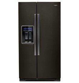 Whirlpool Whirlpool 28.0 SxS Refrigerator Black Stainless