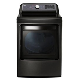 LG LG 7.3 Steam Electric Dryer Black Stainless