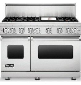 """Viking Viking 48"""" Freestanding Convection Gas Range Stainless"""