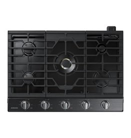 """Samsung Samsung 30"""" Gas Cooktop Black Stainless"""
