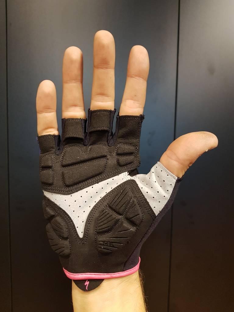 Body Geometry Gel Women's Short Finger (Indigo/Neon Pink)
