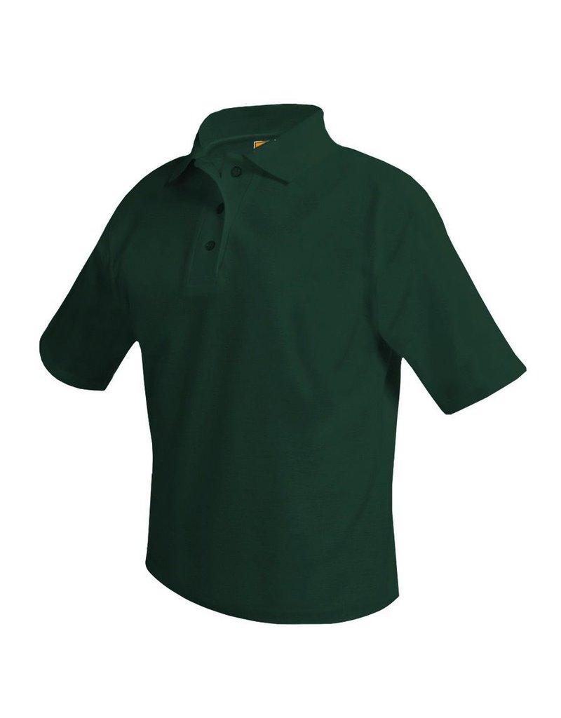 Pique Polo Short Sleeve Shirt, Green