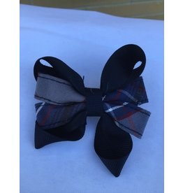 SO Ribbon Bow Barrette, Plaid