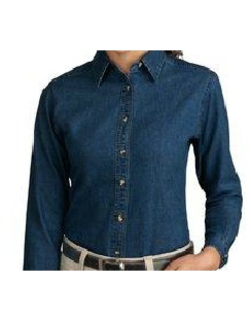 JD Denim Ladies Cut long sleeve shirt