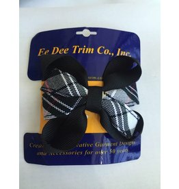 SV Ribbon Bow Barrette, Plaid