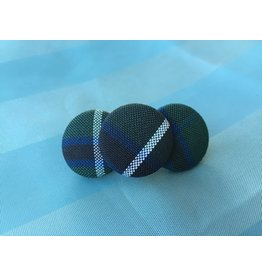 UNIFORM SJB 3 Button Barrette, Plaid