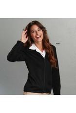 Women's Zip-front V-neck cardigan sweater