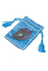 Small Embroidered Beaded Jewelry Pouch (India)