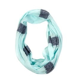 Crochet Aqua Infinity Scarf