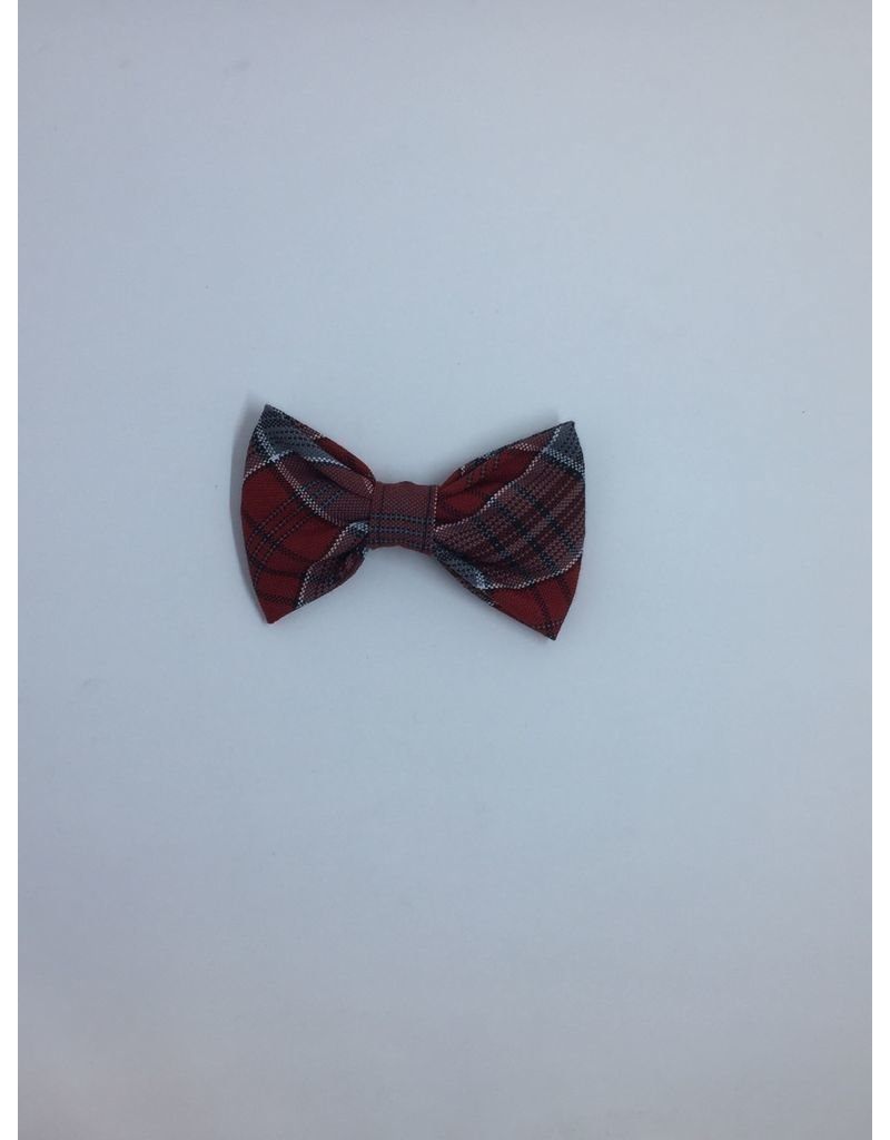 SF Ribbon Bow Barrette, Plaid