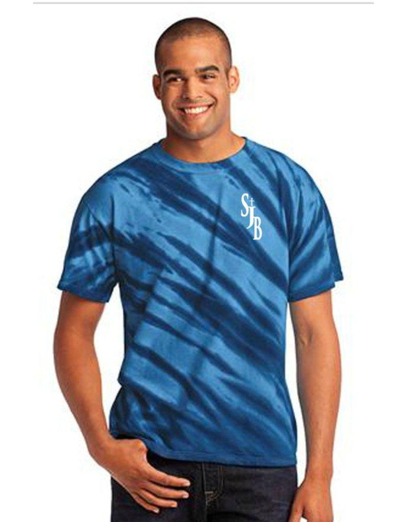 SJBM Navy Tiger Tye-Dye Tshirt, Unisex