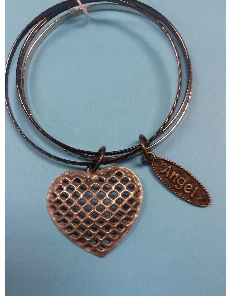 Bangle Bracelet with Charms