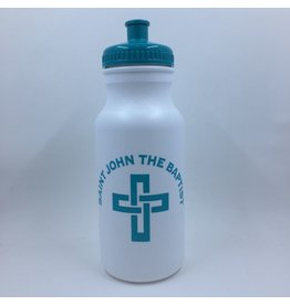SJB 16oz. Water Bottle, White