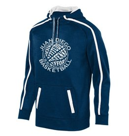 Navy Warm Up Pullover with Basketball Logo