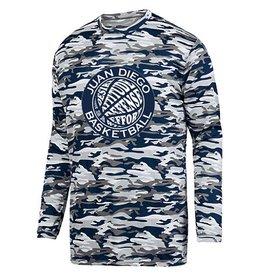 Navy Basketball Camo Tech Shirt with Blue Logo