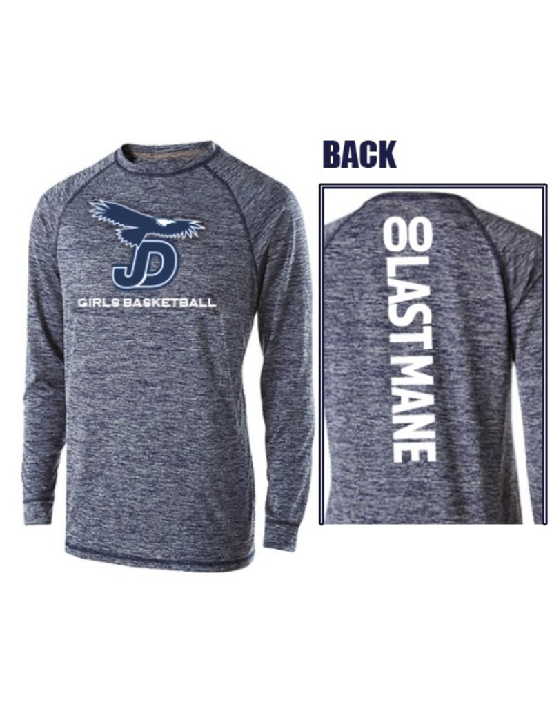 Men's long Sleeve JD Girls Basketball Tee