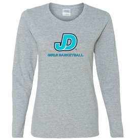 Women's long Sleeve JD girls basketball Tee