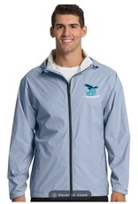 Men's Grey JD Lacrosse Rain Jacket with embroidered logo