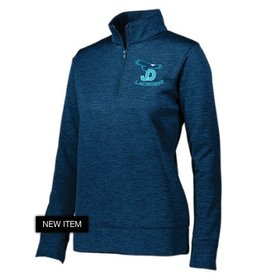 Ladies Quarter Zip Pullover with embroiderd LAX logo