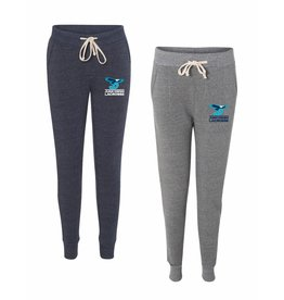 Girls Lacrosse Player Optional Alternative - Eco-Fleece Women's Jogger in Navy with embroiderd logo