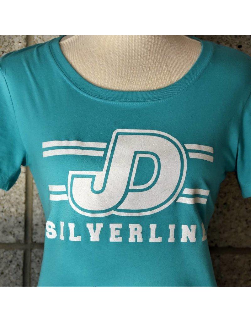 JD Silverline Ladies Turquoise Crew Neck Tee Shirt
