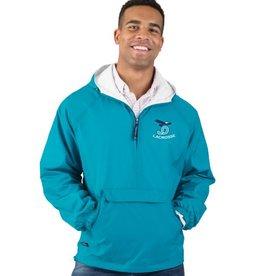 BLAX Blue pullover rain jacket