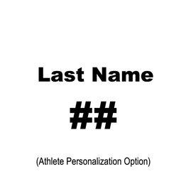 Personalization, LAST NAME & #