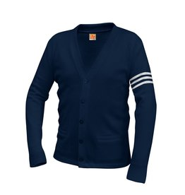 JDCHS Letter Cardigan Sweater