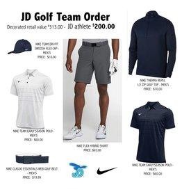 JD Golf Nike Team Uniform Pack - order now