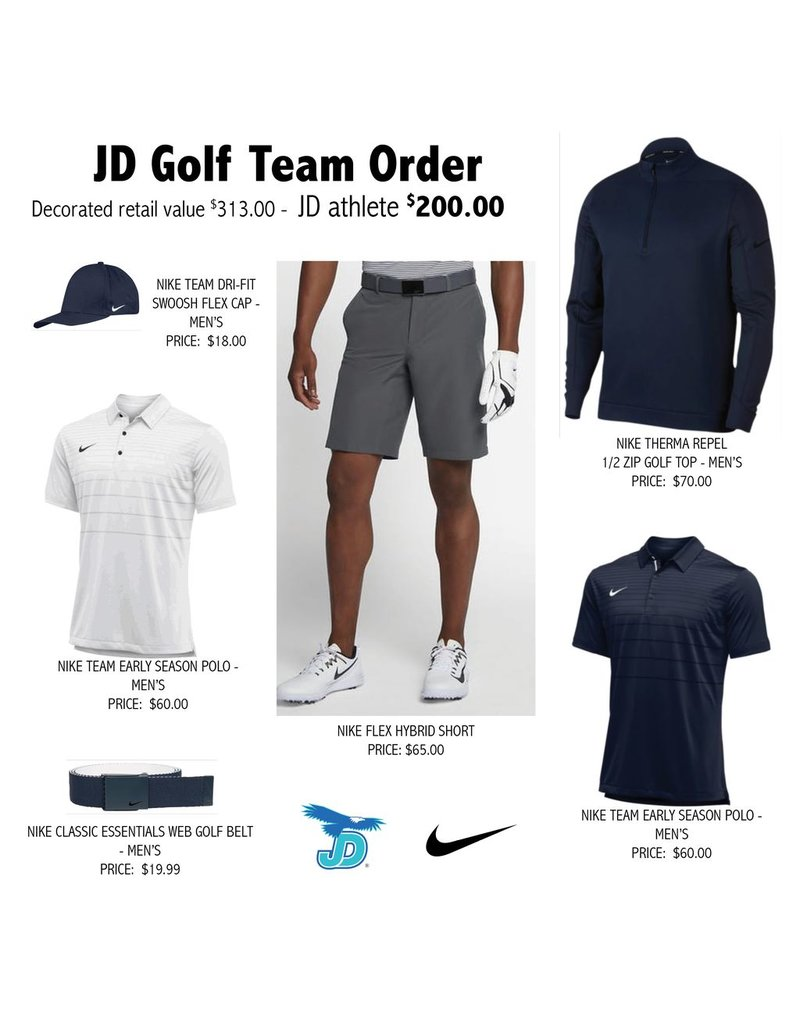 JD Golf Nike Team Uniform Pack - order now
