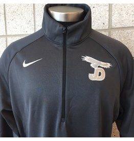 Nike Ladies 1/4 Zip Jacket zip, JD/Eagle on right chest