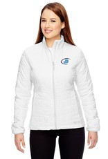 Women's Columbia White embroidered Football Jacket