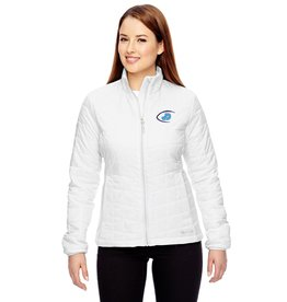 Women's Columbia White embroidered Football Jacket