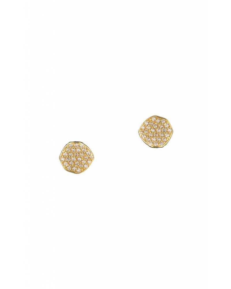 Tai Jewelry Pave Disc Earrings