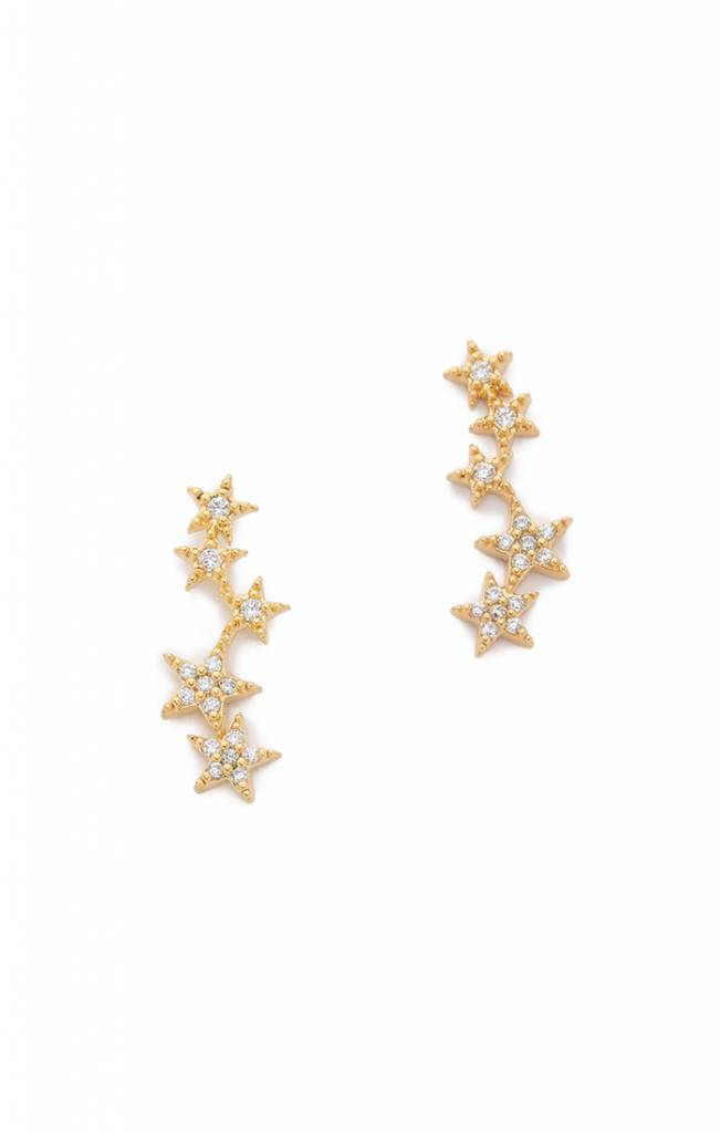 gold kors stud tone michael lyst rose in star earrings pink jewelry