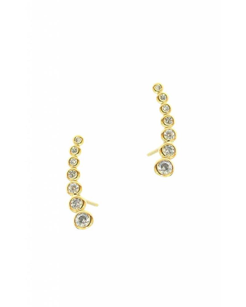 Tai Jewelry Shooting Star Crawler Post Earrings