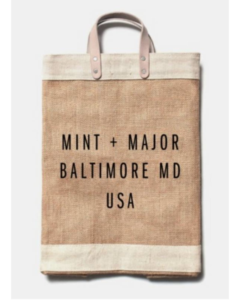 Apolis Mint Major City Series Market Bag