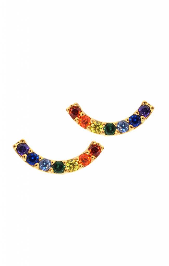 Tai Jewelry Rainbow Arc Post