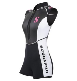 ScubaPro Hybrid Shorty 2mm Women's Front Zip Sleeveless  - Black/White