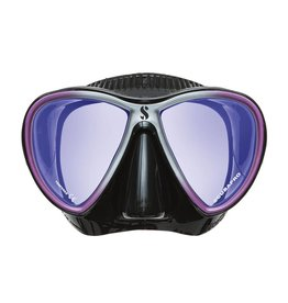 ScubaPro Synergy Trufit Twin Mirrored Lens - Black/Purple - Black Skirt