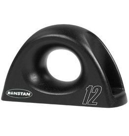 Ronstan Low Friction Fairlead, Single, Aluminum, Black, 12mm